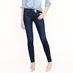 J crew mid rise toothpick jeans size 27